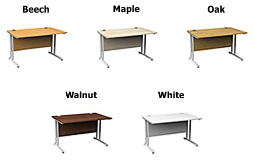 Height Adjustable Desk color options