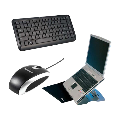 Laptop Stand / Compact Keyboard / Portable Mouse